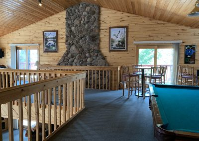 Upstairs recreation area
